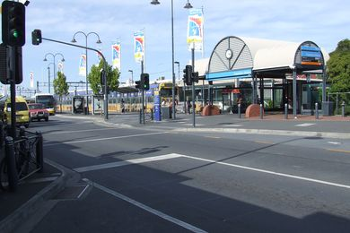 The existing Frankston railway station.