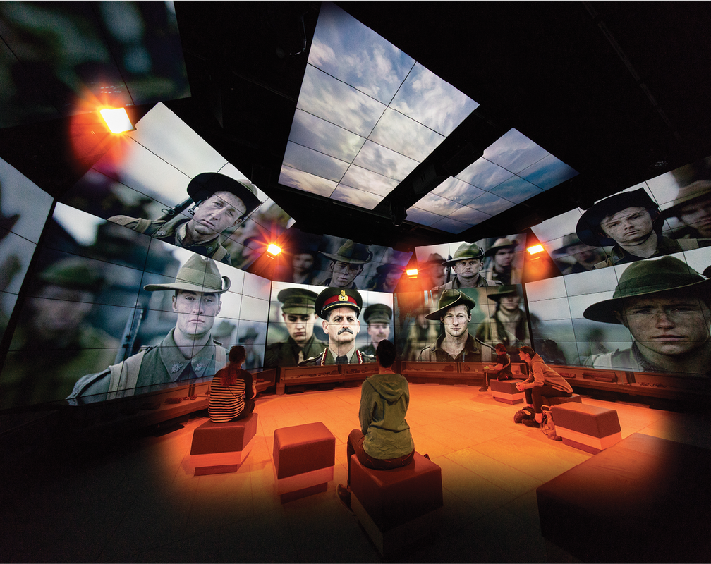Inside the immersive exhibition space, an app guides visitors through the galleries.