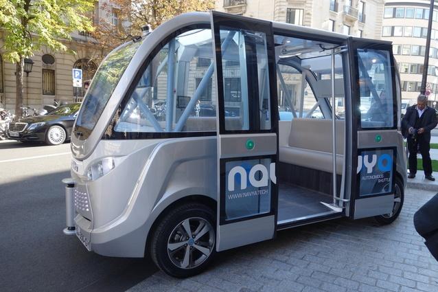 The Navya Arma is a 100% electric autonomous vehicle.