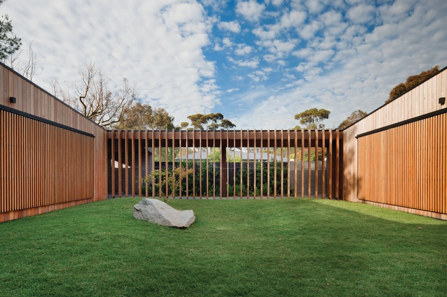 "The ""austere walled garden"" or courtyard is the defining spatial structure at Hover House."