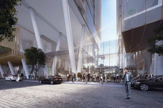 Parramatta Square office towers designed by Johnson Pilton Walker.