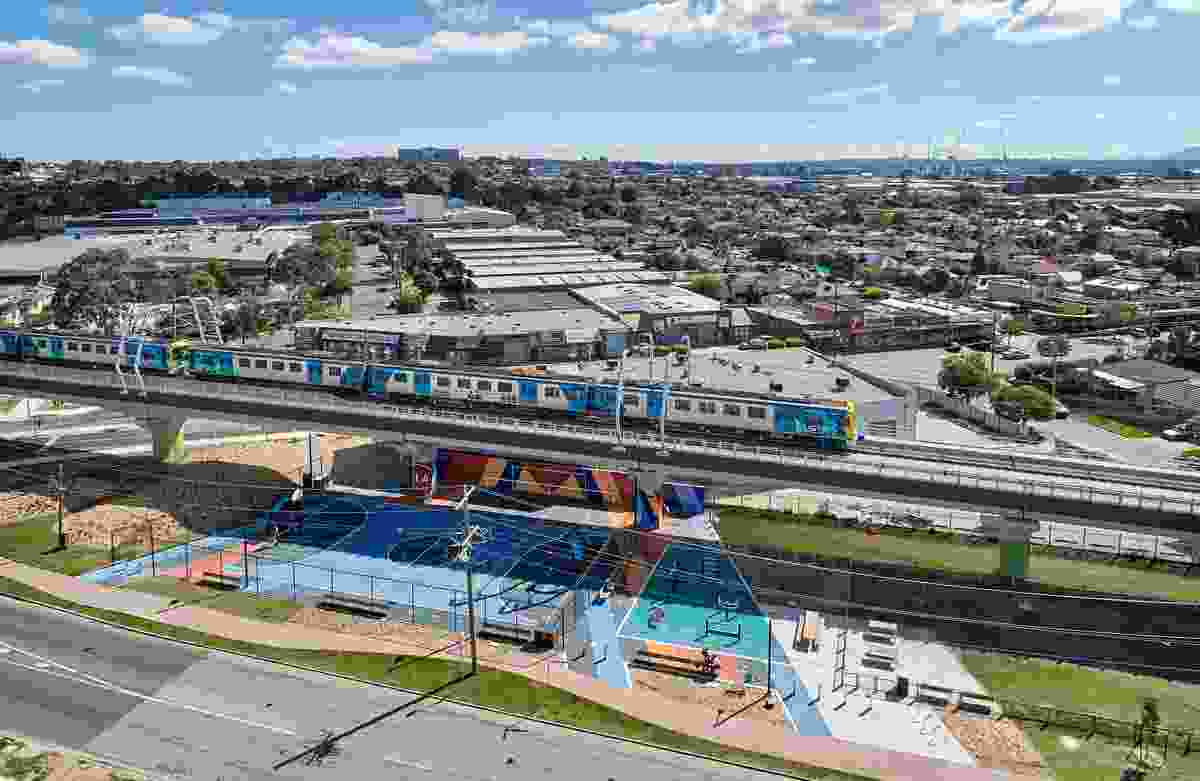 Caulfield to Dandenong Level Crossing Removal Project by Aspect Studios with Cox Architecture