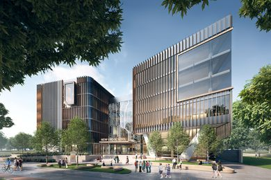 Proposed Adelaide city high school designed by Cox Architecture, DesignInc and Taylor Cullity Lethlean.