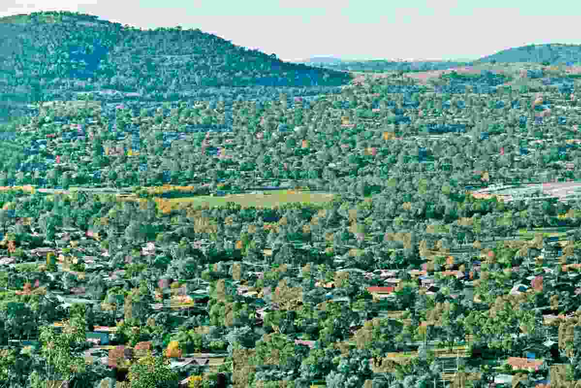 Kambah, ACT, where Bruce Mackenzie built a central parkland.