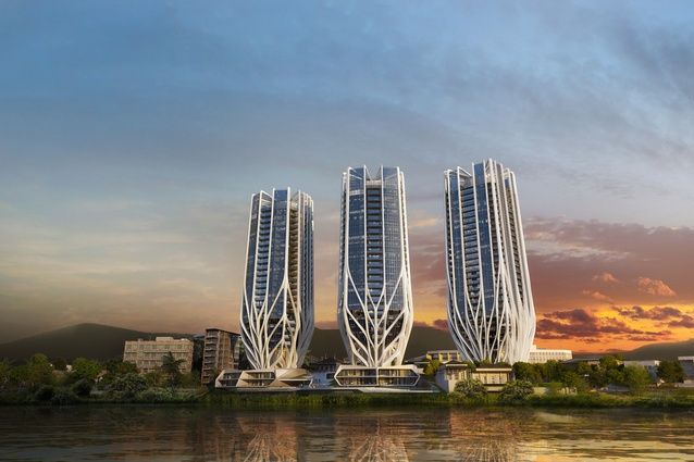 Zaha Hadid Architects designed Brisbane Tower Trio