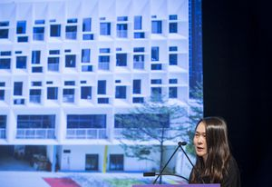 Elva Tang of Henning Larsen Architects presenting at The Architecture Symposium, Brisbane 2019.