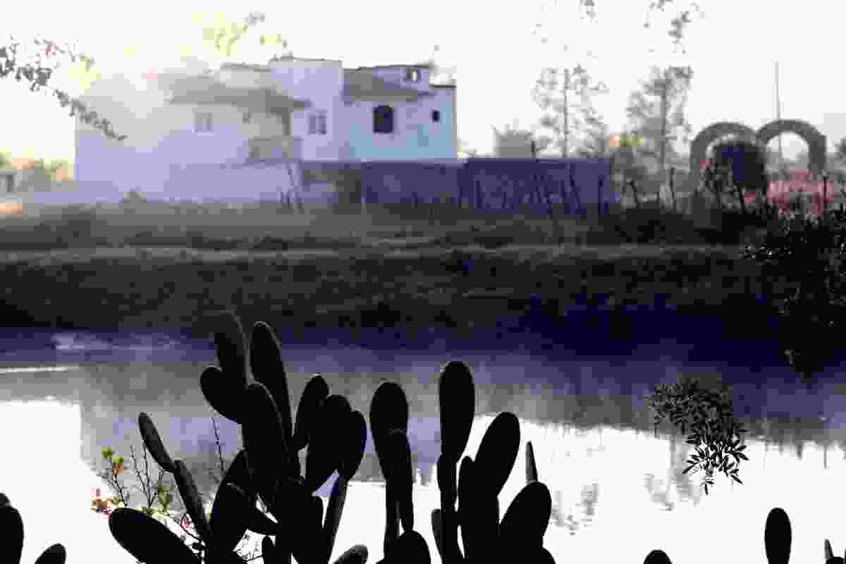 Local adobe ranch in Mixtlan, a town bordering the Ruta del Peregrino.