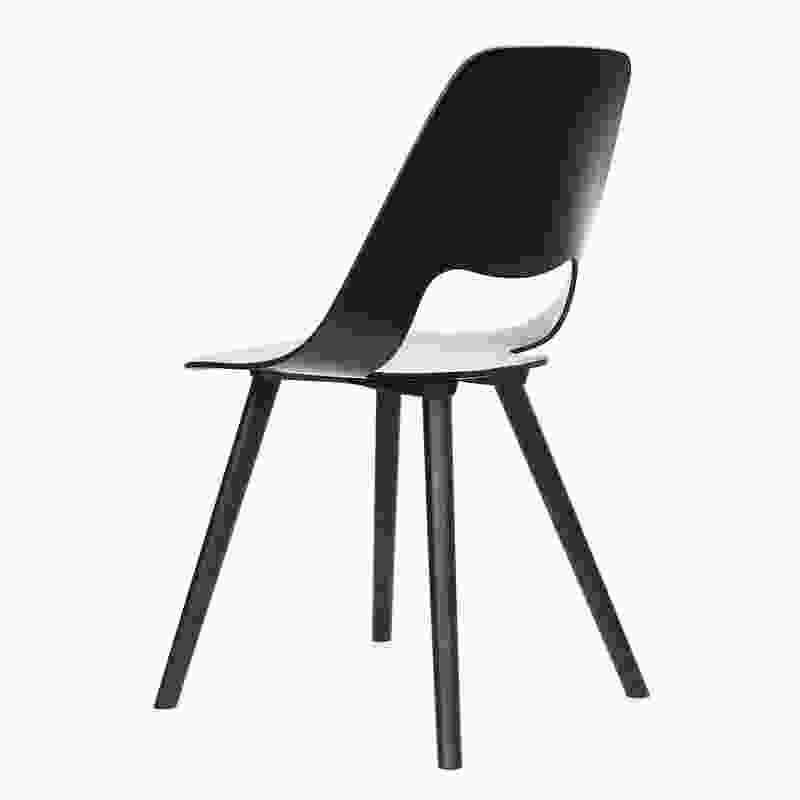 Jill is a moulded plywood chair for Vitra, available with different base frames and cushions.