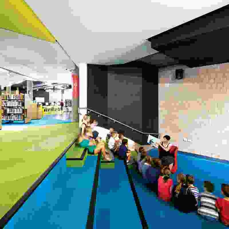 The previously under-utilized theatrette has been transformed into an open amphitheatre.