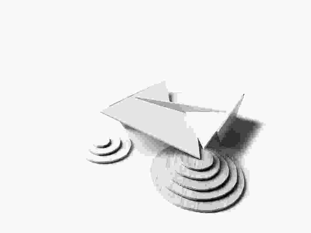 A study mode of the 2018 MPavilion by Estudio Carme Pinós.