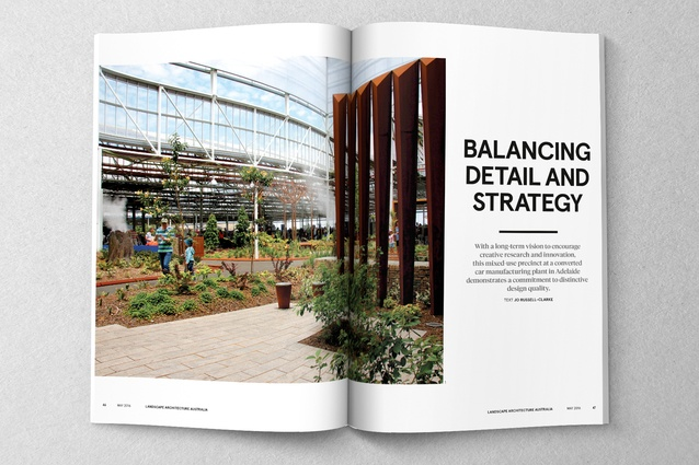 May issue of laa out now landscape australia for Oxigen landscape