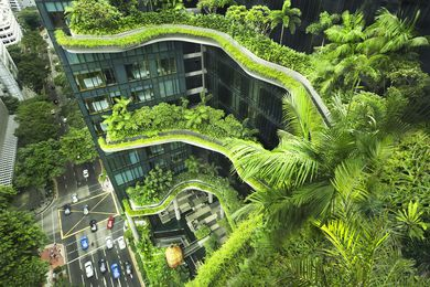 Parkroyal on Pickering, Singapore (2013) by WOHA.