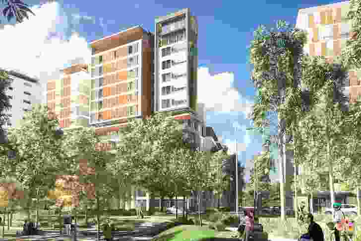 A concept design for Parkview precinct by Sydney Olympic Park Authority (SOPA) with assistance from Ruker Urban Design.