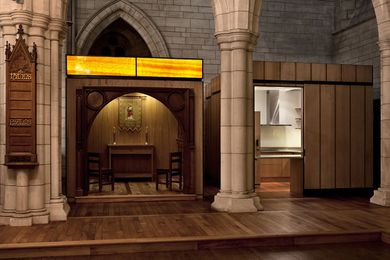 Supreme Award and Culture and Civic Award winner – St Thomas' Chapel in St Matthew-in-the-City Church by Salmond Reed Architects.