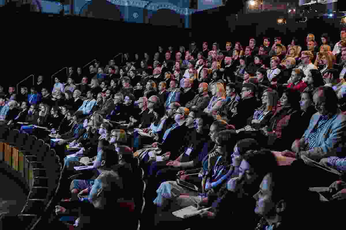 The audience at the 2017 Work Place/Work Life at the Eternity Playhouse, Sydney.