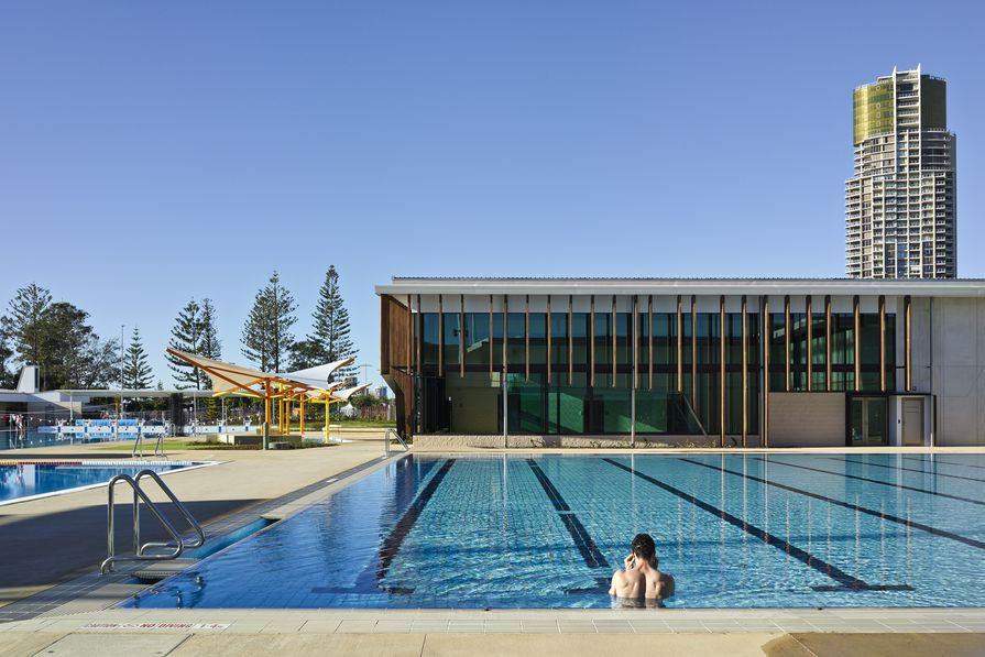 Gold Coast Aquatic Centre by Cox Rayner Architects.