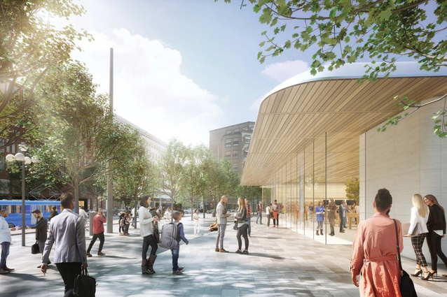 The proposal for an Apple flagship store at Kungsträdgården in Stockholm.