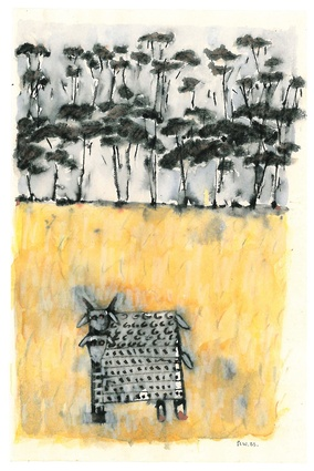 A little landscape sketch by 2013 Gold Medallist Peter Wilson.