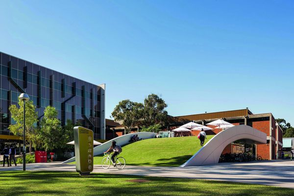 Curtin Bike Hub (Perth, Australia) by Coniglio Ainsworth Architects.