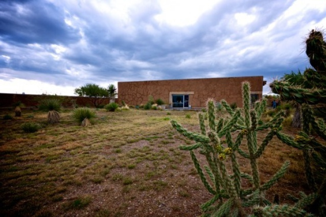 The Mud House (aka Mowers-Tick Residence) by Rael San Fratello, in the desert town of Marfa,Texas.