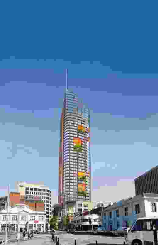 The original design for the hotel, unveilied October 2016.