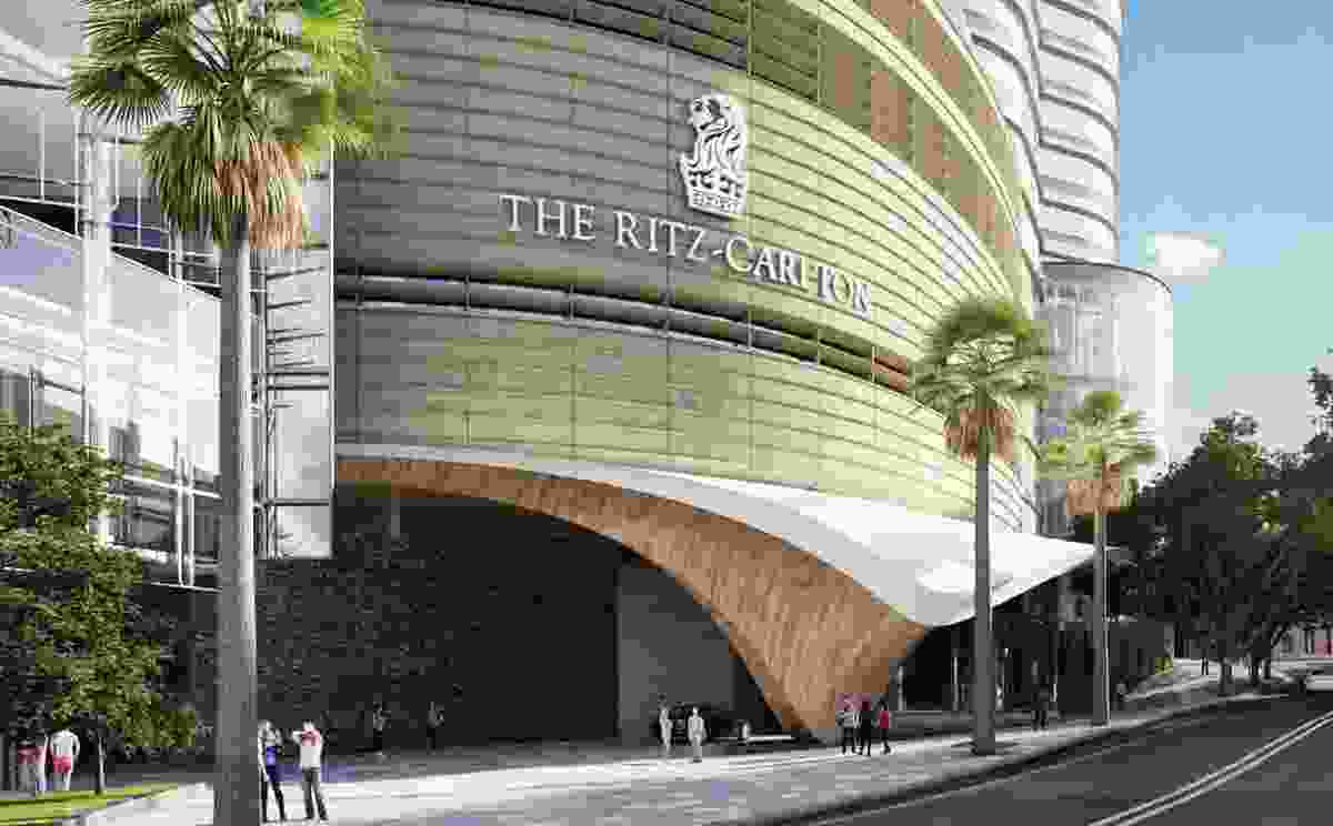The proposed entrance to the Ritz-Carlton hotel.