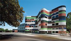 Fitzroy High School, by McBride Charles Ryan, winner of the Grand Prix and Commercial Interior category at the 2010 Dulux Colour Awards. Photograph John Gollings.
