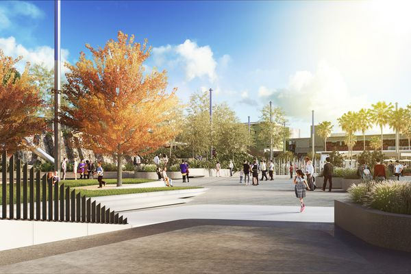 The new Cato Square that will replace a car park near Chapel Street in Melbourne's Prahran.