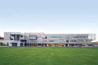 Locating the preparatory school along the western boundary of the campus maximizes open playing space, while enhancing the campus enclosure.