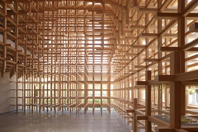 Prostho Museum Research Center by Kengo Kuma and Associate, 2010.