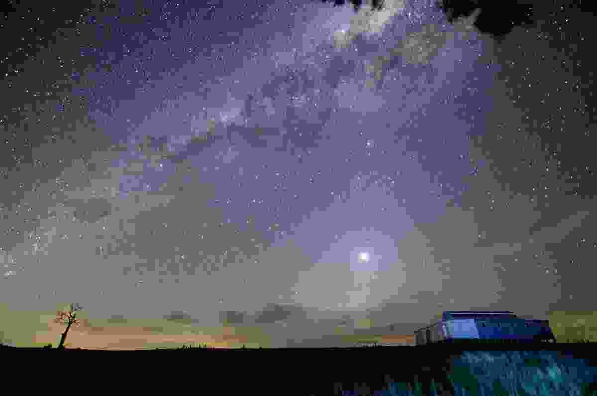 Venus shines bright in the sky above Victoria.