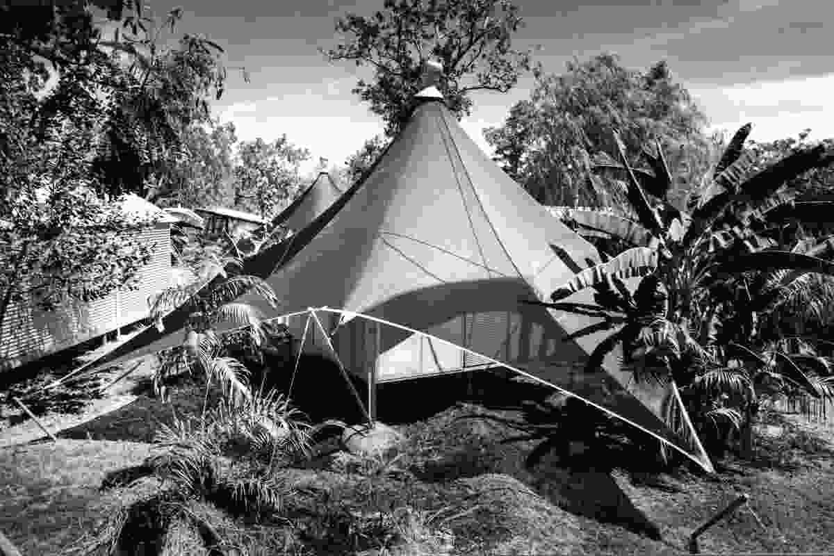 The love tents, Anbinik Kakadu Resort (formerly Lakeview Park), Jabiru, Kakadu National Park, NT, 1995.