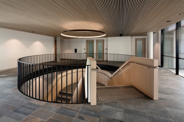 Interior of the new members offices building for Victoria's Parliament House.