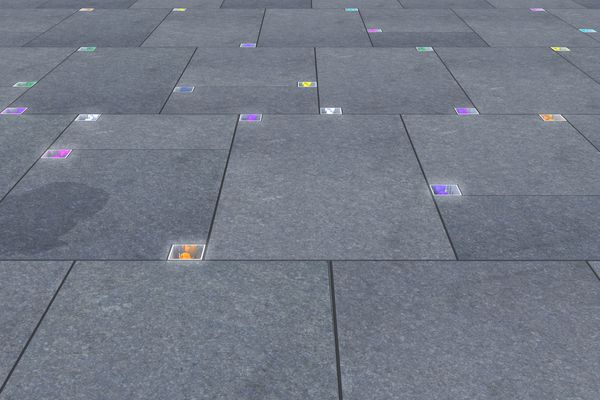 Johnson Pilton Walker director Richard Johnson's Martin Place siege memorial design features flowers set into the pavement.