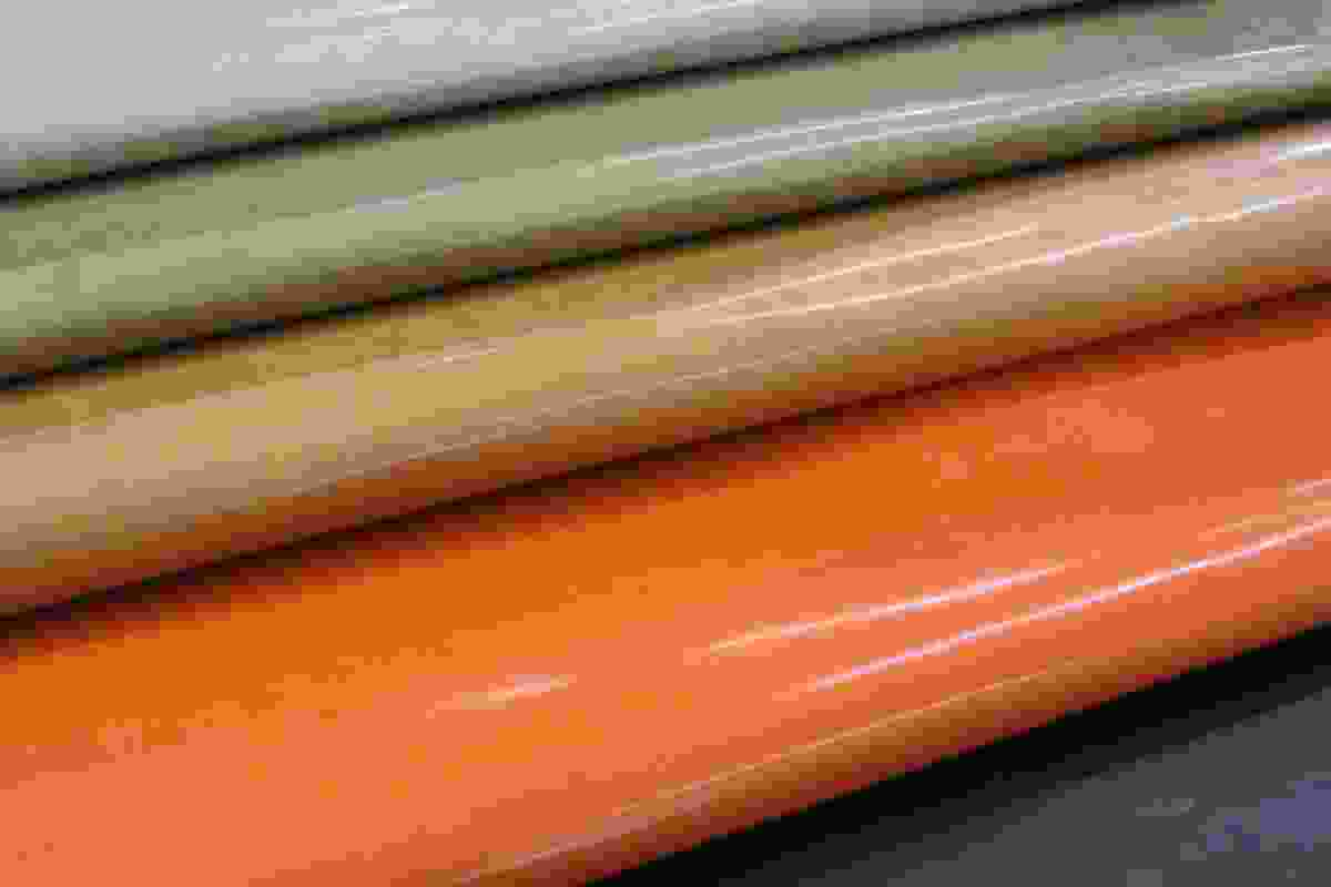 Five new colours in Verona leather: Pebble, Moss, Walnut, Saffron and Aniseed.