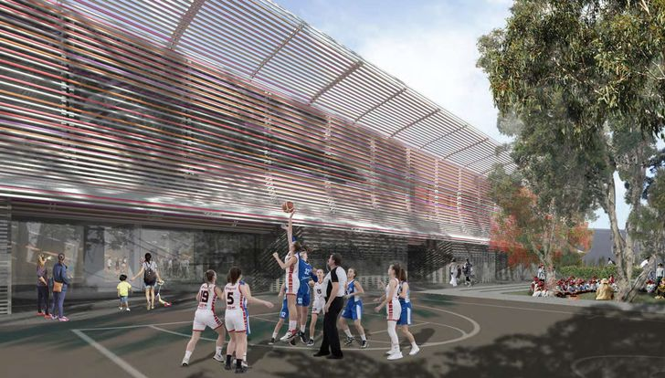 Huntley Street Recreation Centre concept design by Collins and Turner Architects.