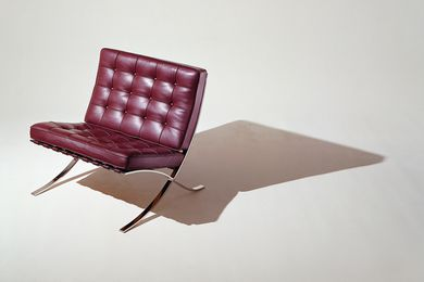 Barcelona chair from Knoll.