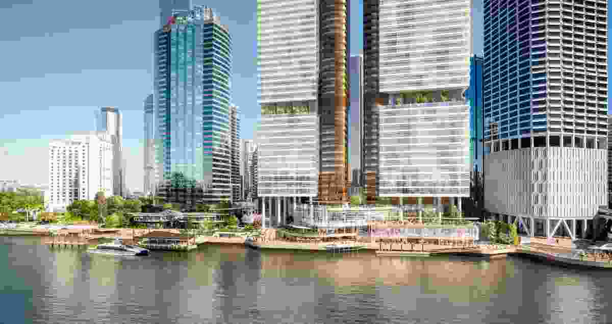 Waterfront Brisbane by FJMT and Arkhefield.
