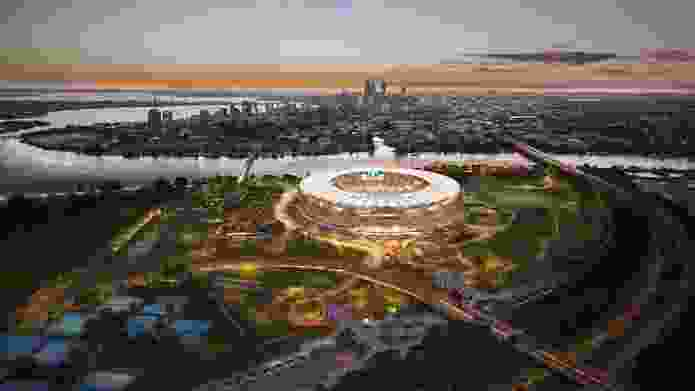 New Perth Stadium by Hassell, Cox Architecture and HKS.