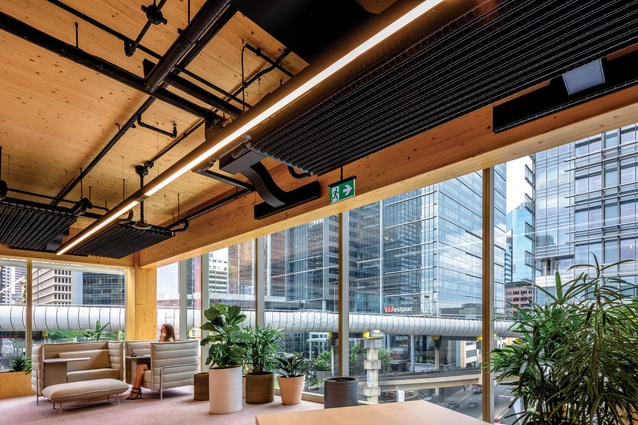 Cross-laminated timber panels form the floors of the building, while European spruce has been deployed for the internal structure.
