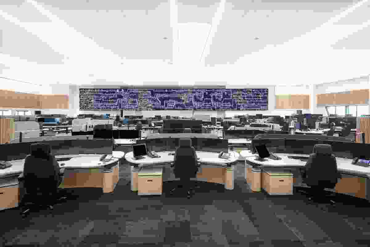 The control room (the building's central function space) was required to be clear span and top-lit, with few windows.