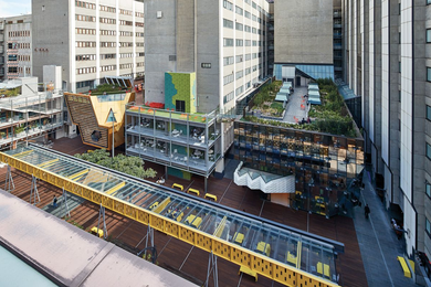 RMIT University's New Academic Street by Lyons with NMBW Architecture Studio, Harrison and White, MvS Architects and Maddison Architects, is cited as an exemplar of effective urban design in the Central Melbourne Design Guide.