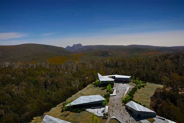 A view of the new Cradle Mountain visitor centre based on the masterplan.