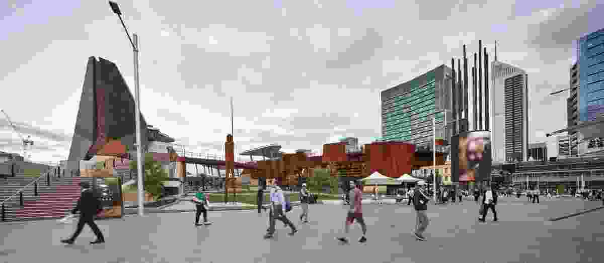 Yagan Square by Lyons in collaboration with Iredale Pedersen Hook and landscape architects Aspect Studios.