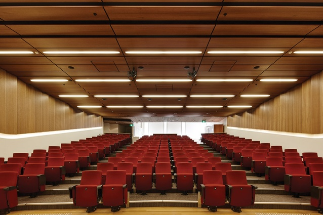 The 200-seat auditorium on the ground floor.