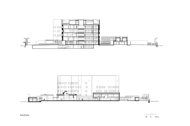 Sections of the Australian Embassy Bangkok by BVN.