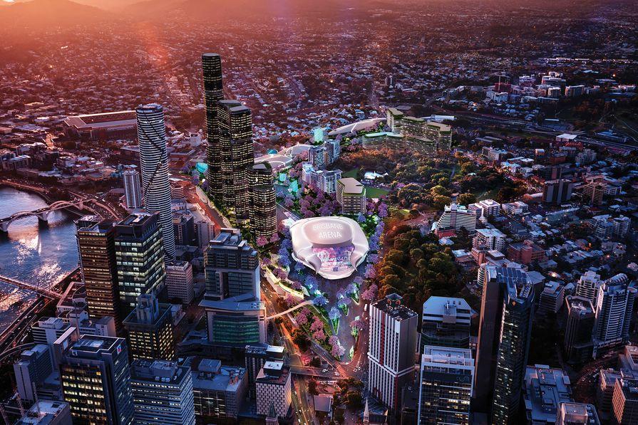 AEG Ogden's proposed Brisbane Live arena, designed by NRA Collaborative.