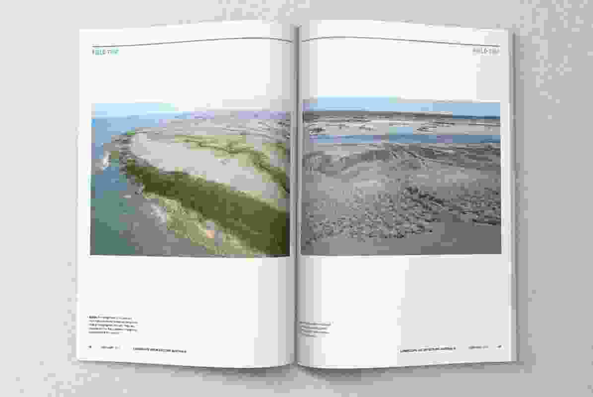 A spread from Landscape Architecture Australia issue 153, February 2017.