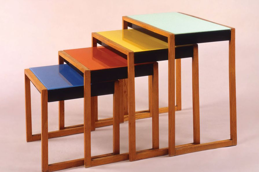 Josef Albers, Set of four stacking tables, c. 1927.