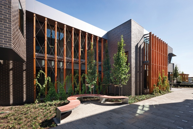 St Catherine's Senior School by Croxon Ramsay (2015) includes a new atrium, the reinvention of a multipurpose building and a new facade to the central courtyard.